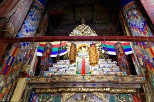 Stupa of 4th Panchen Lama in Tashi Lhunpo monastery