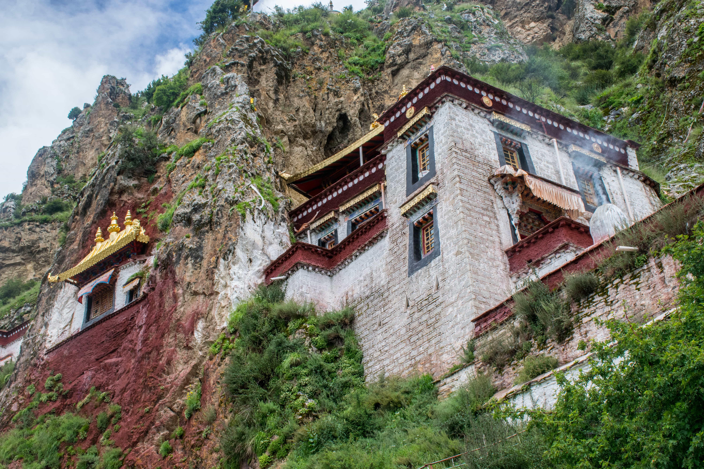 Temple in Drak Yerpa complex, Tibet