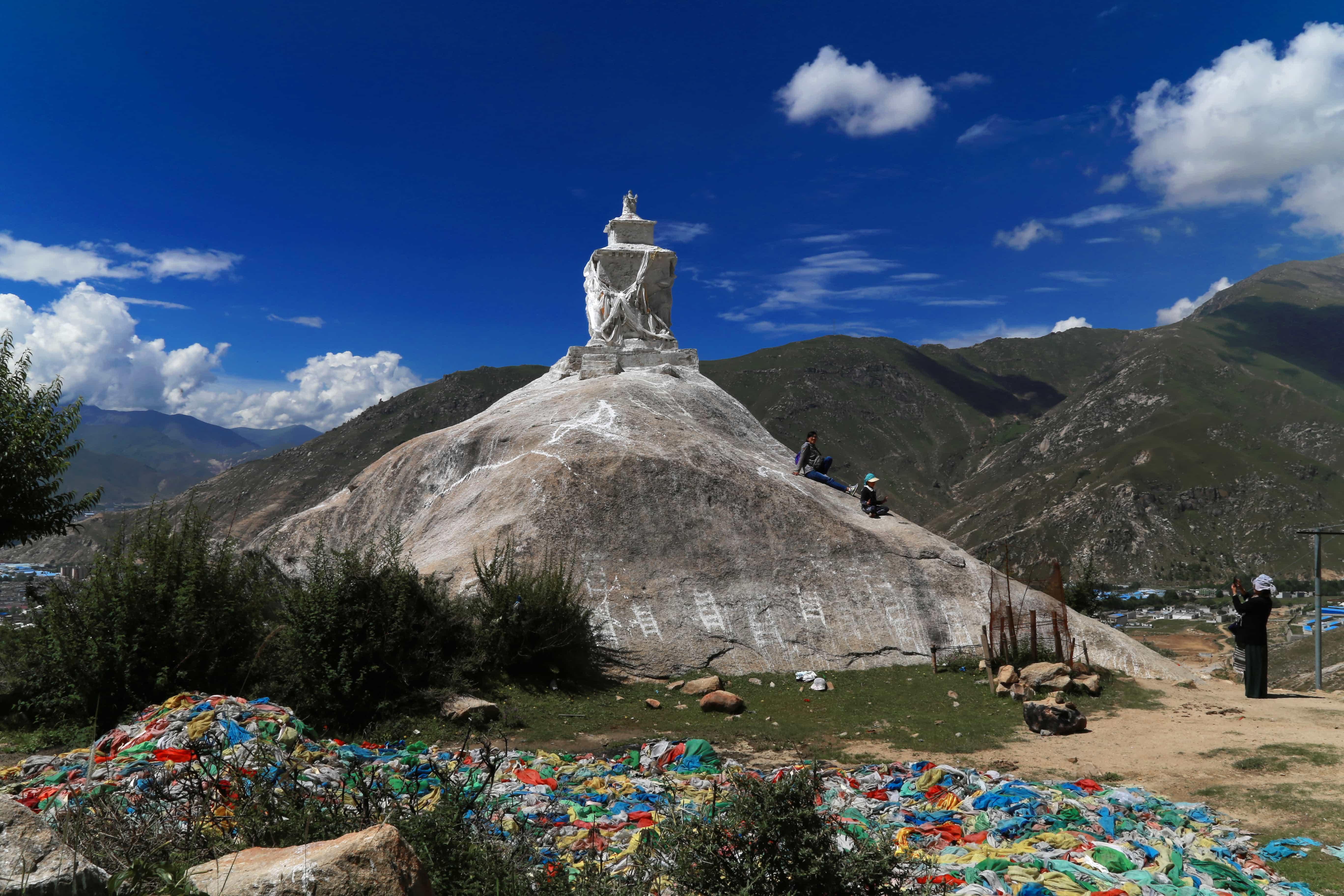 Stupa by Pabongka monastery in Lhasa