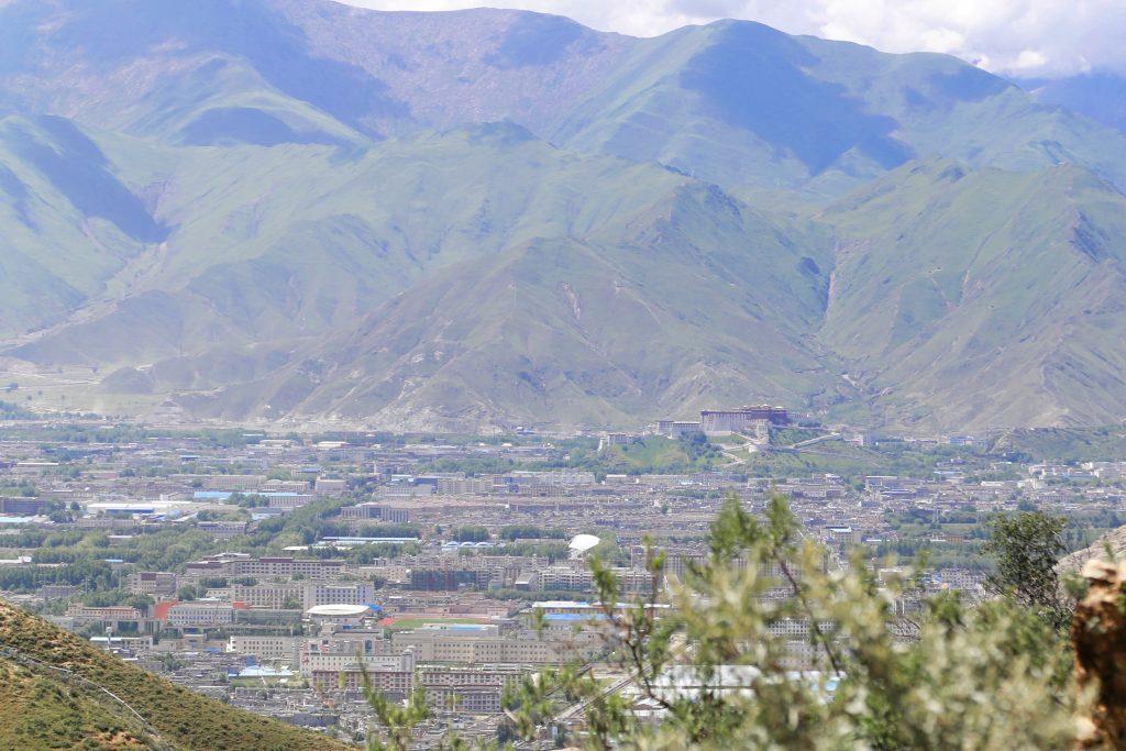 View on Lhasa and Potala Palace from Pabongka