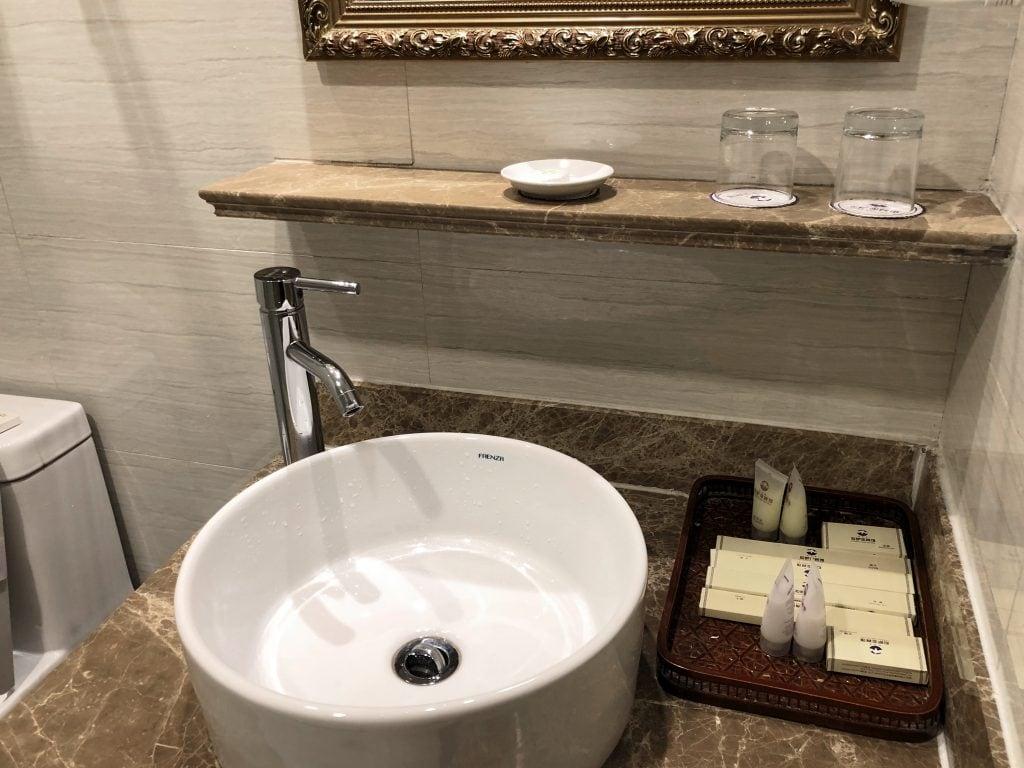 Bathroom in Yak hotel, Lhasa, Tibet