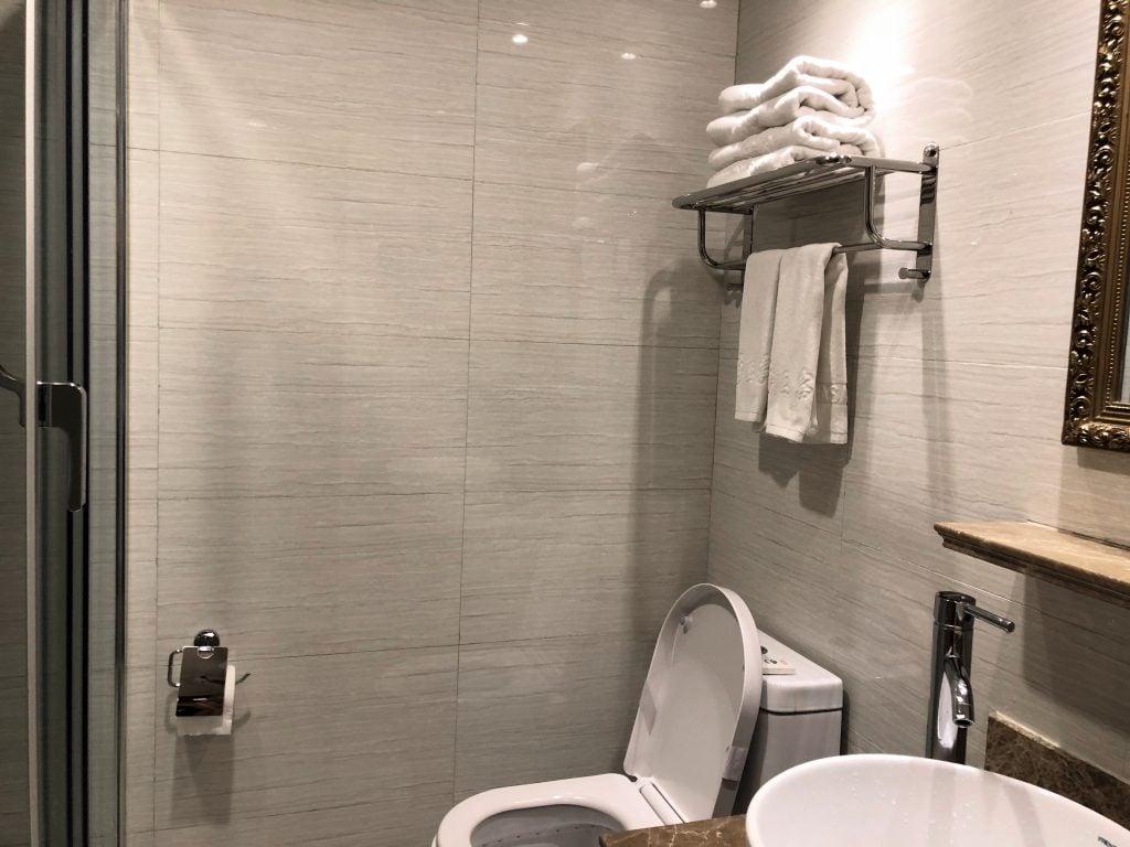 Bathroom in Yak hotel in Lhasa, Tibet