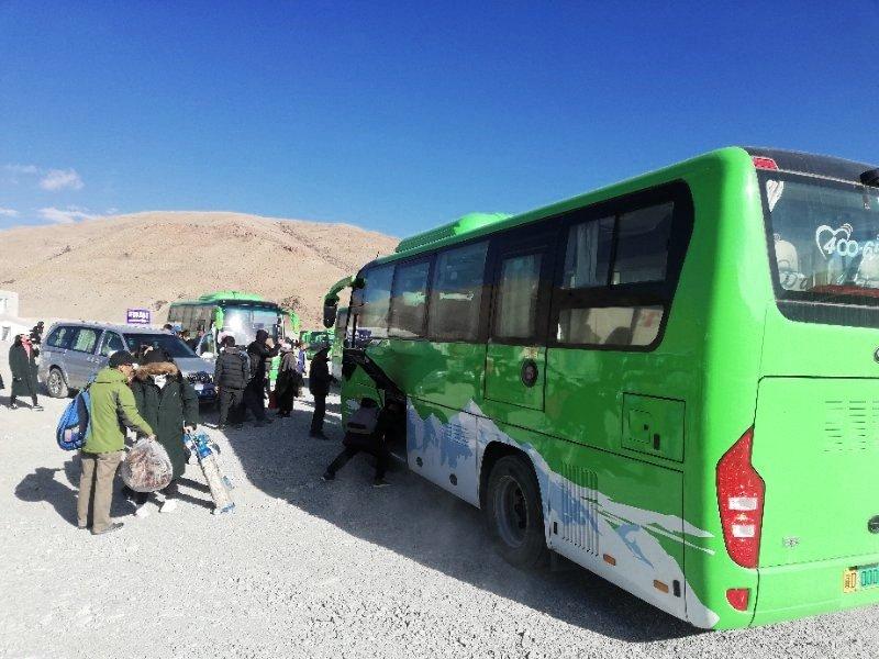 Green bus at Everest Region