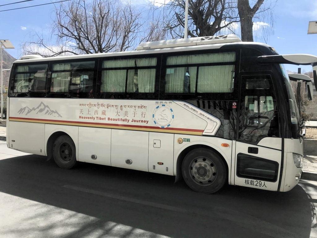 Large bus in Tibet