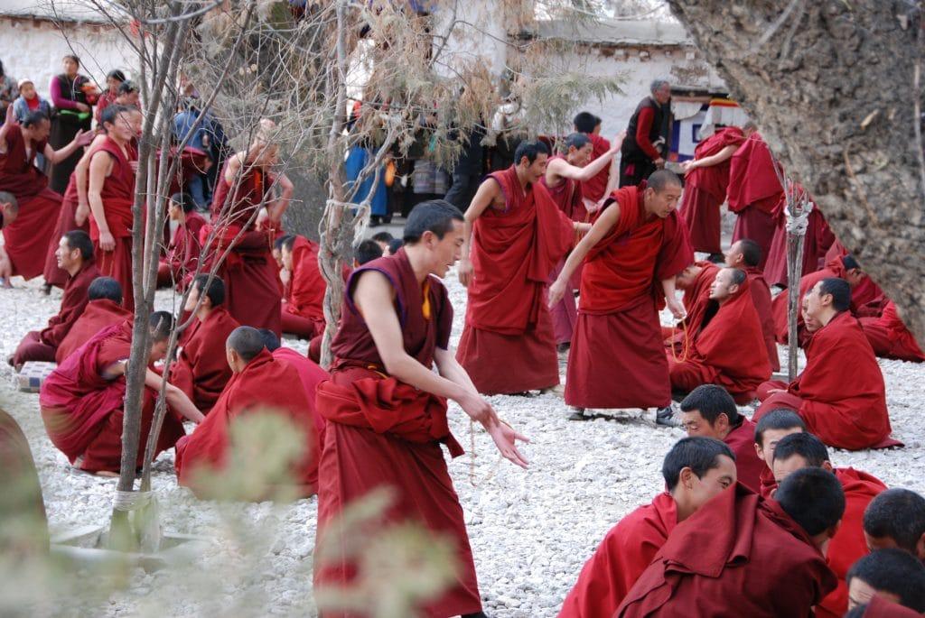 Monks Debates in Sera monastery, Lhasa,Tibet