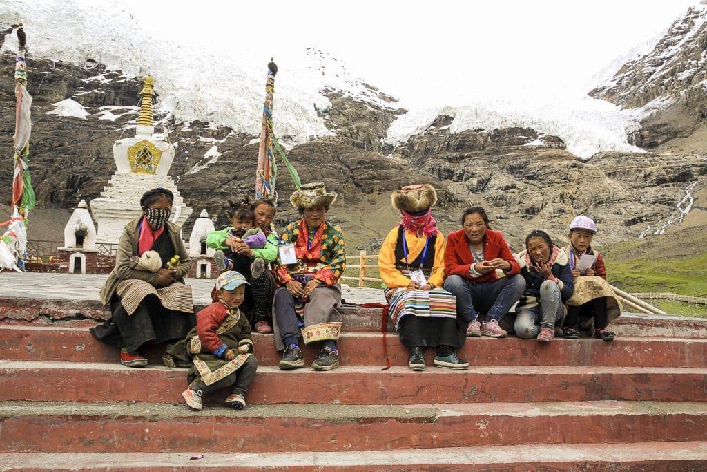 Tibetans at Karola glacier