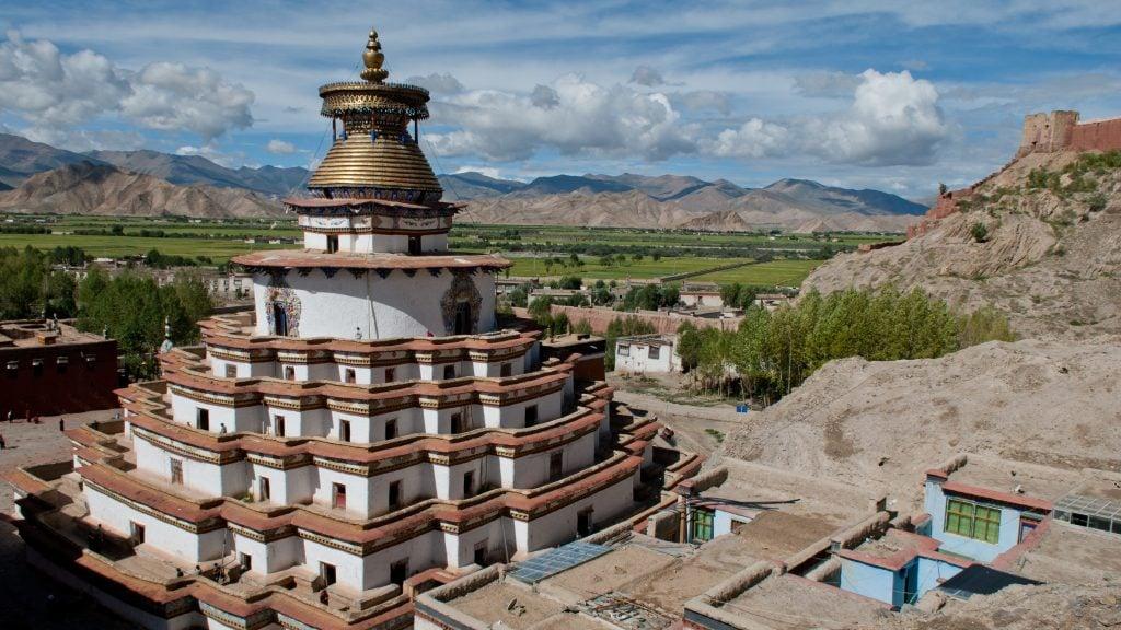View on Kumbum Stupa in Gyantse, Tibet