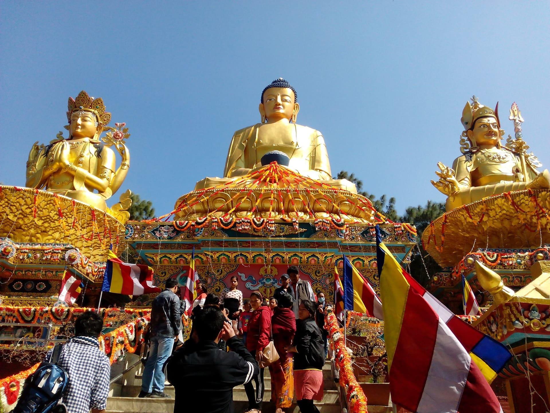 Buddha Statues in Kathmandu, Nepal