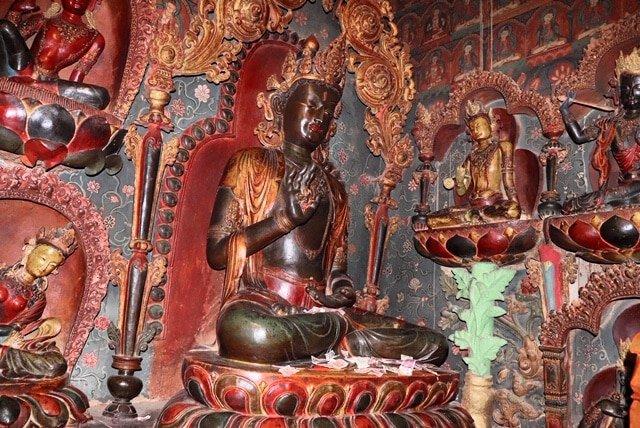 Chapel of Five Dhayani Buddhas in Gyantse monastery