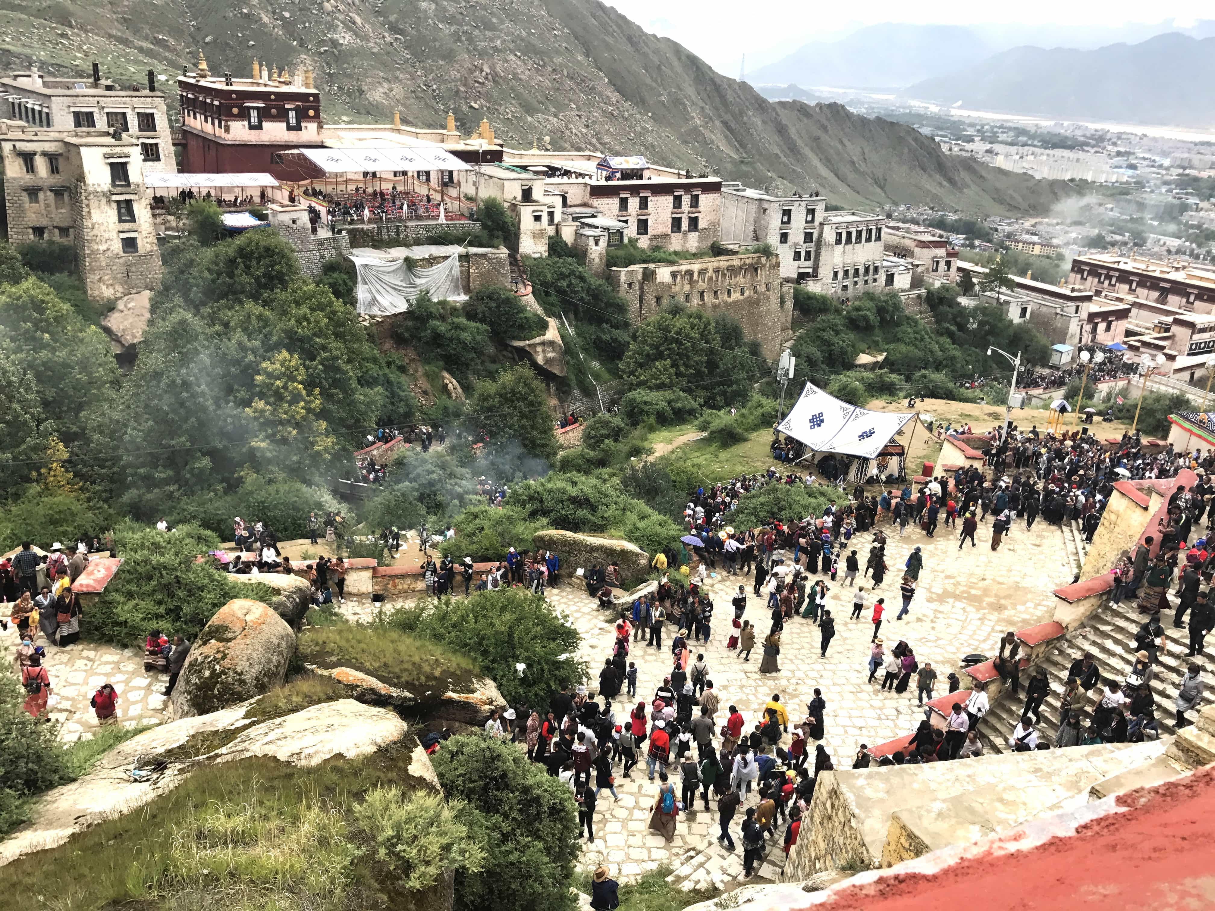 Drepung Monastery during Shoton Festival, Lhasa, Tibet