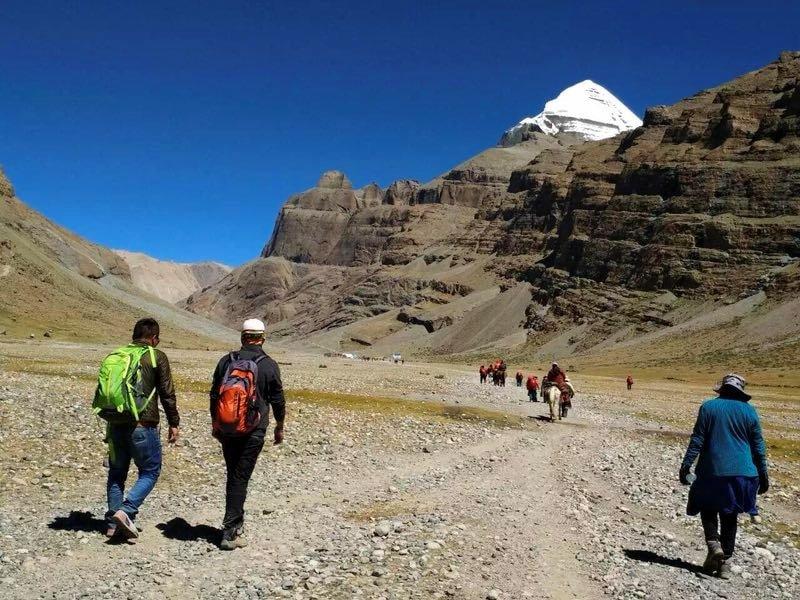 First day of trekking around Kailash in Tibet