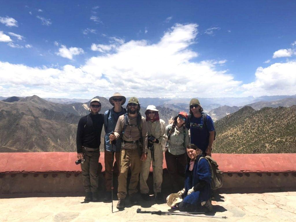 Group visiting Shugsheb nunnery near Lhasa