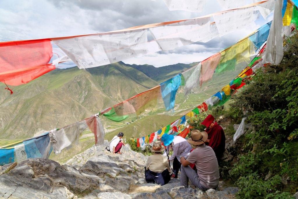 High kora around Ganden monastery in Tibet