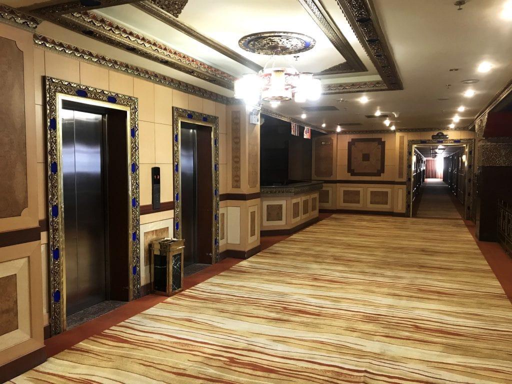 Inside Gang Gyan hotel in Lhasa