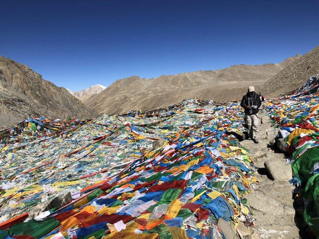 On top of the Drolma La pass at 5640 meters, Tibet