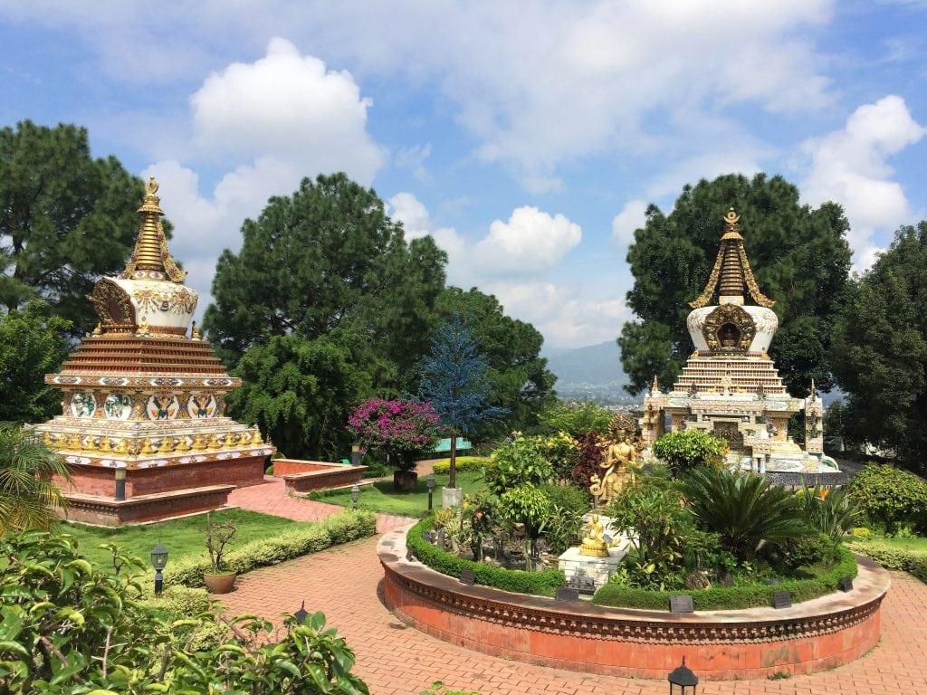 Park in Kopan monastery complex in Kathmandu