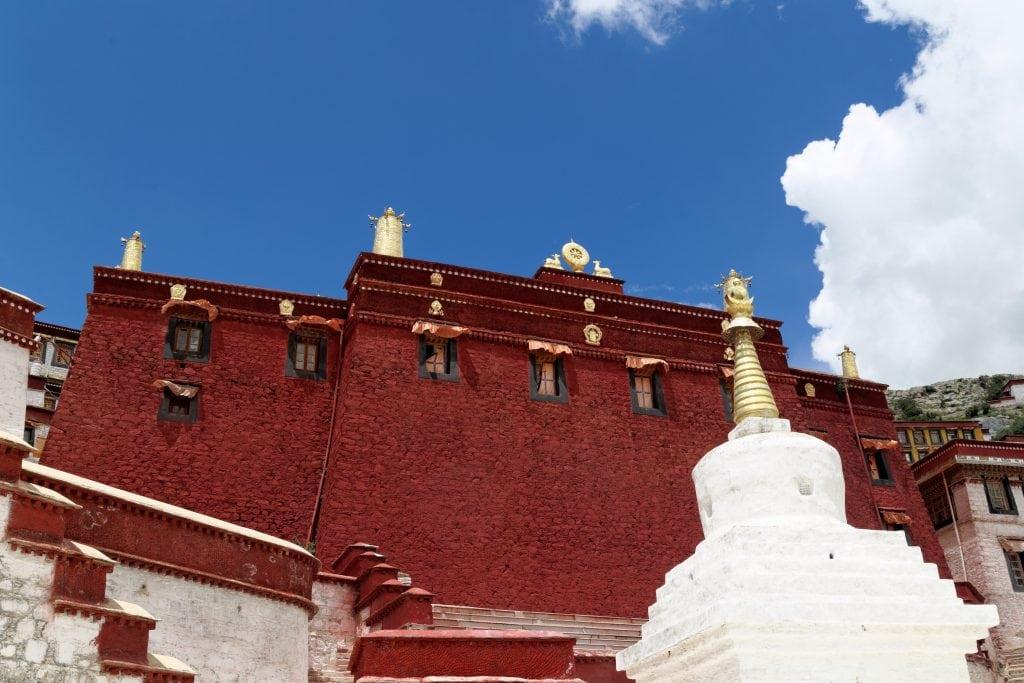 Serdung Lakhang in Ganden Monastery