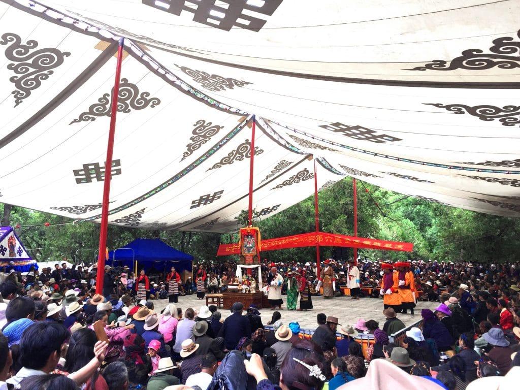 Tibetan Traditinal Opera Dance in Norbulingka