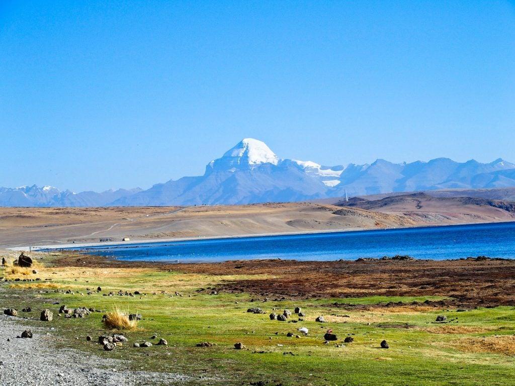 Distant view on Mount Kailash