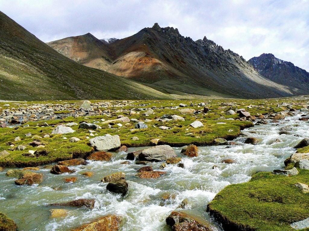 Mountain stream in Kailash region