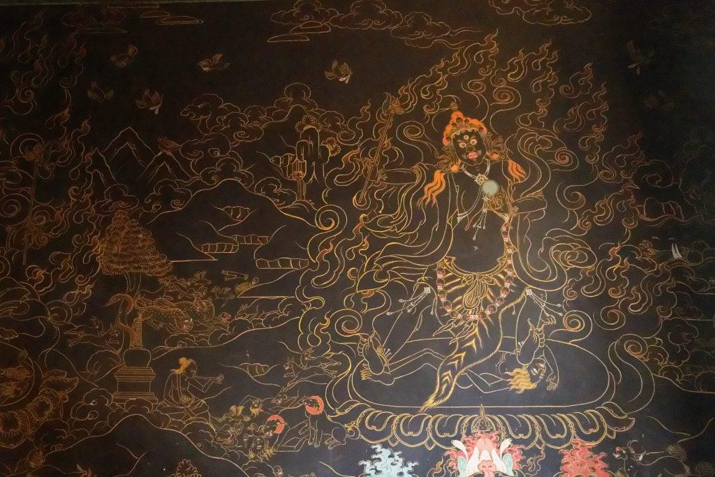 Murals in Chumpu nunnery