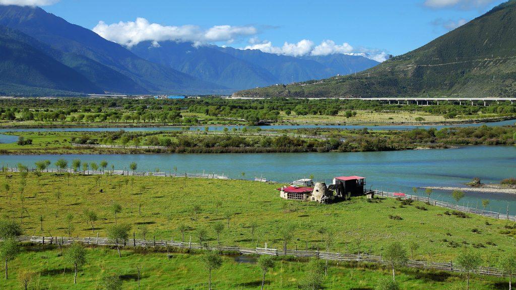 Nyingchi view on Niyang River in Tibet