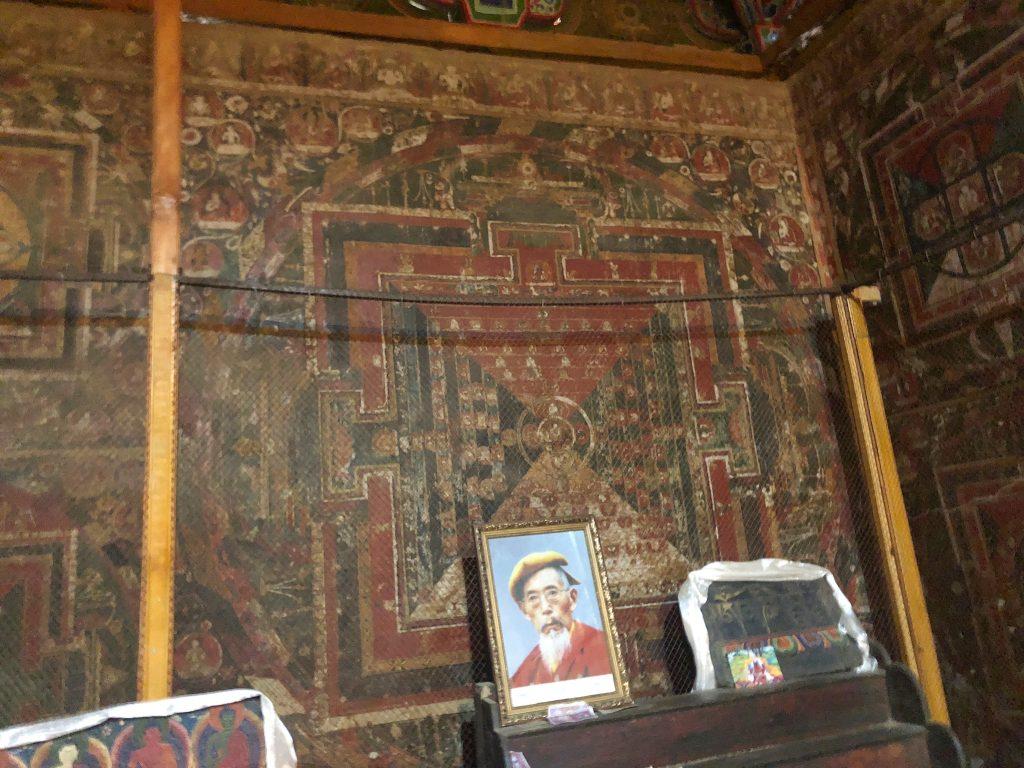 Mandala painting in Shalu monastery