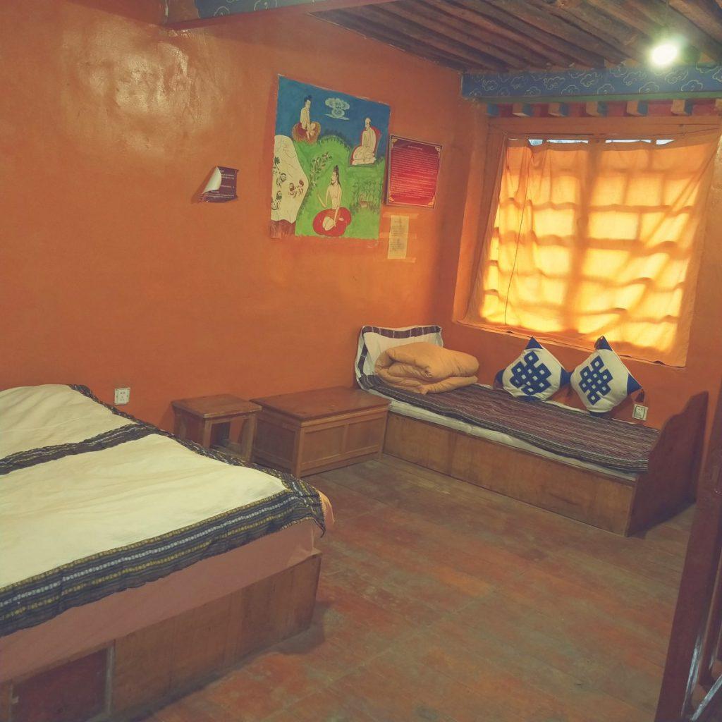 Bedroom in Shambala Hotel, Tidrum