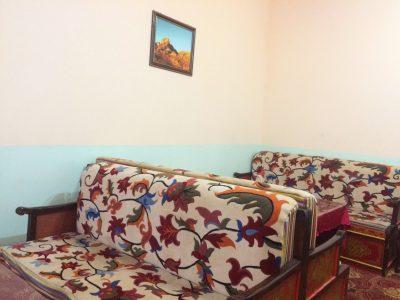 Inside Tibetan teahouse