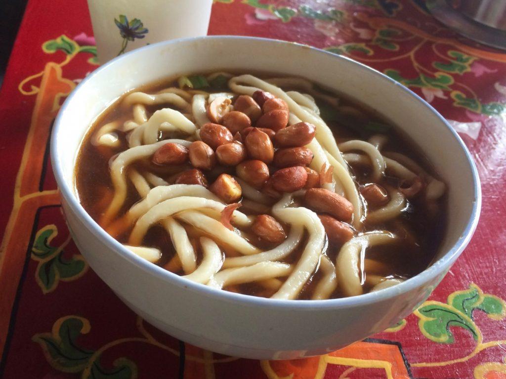 Vegetarian Tibetan noodles