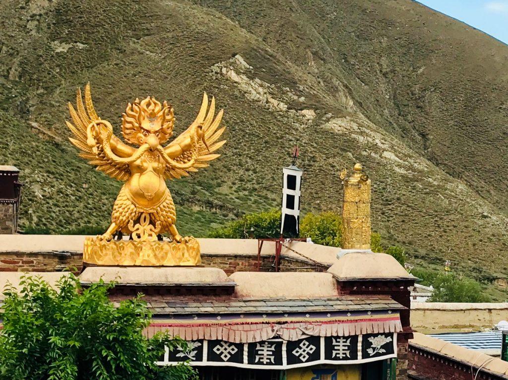 Garuda statue in Mindrolling monastery, Tibet