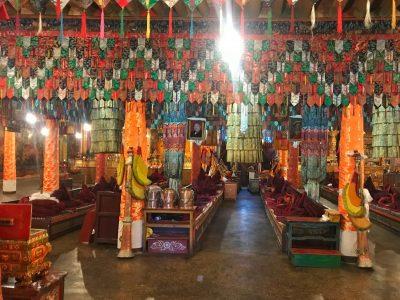 Inside Phuntsok Ling monastery