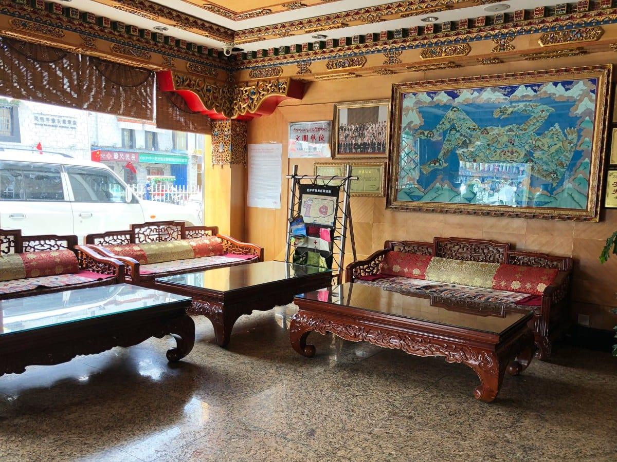 Lobby in Yak hotel, Lhasa