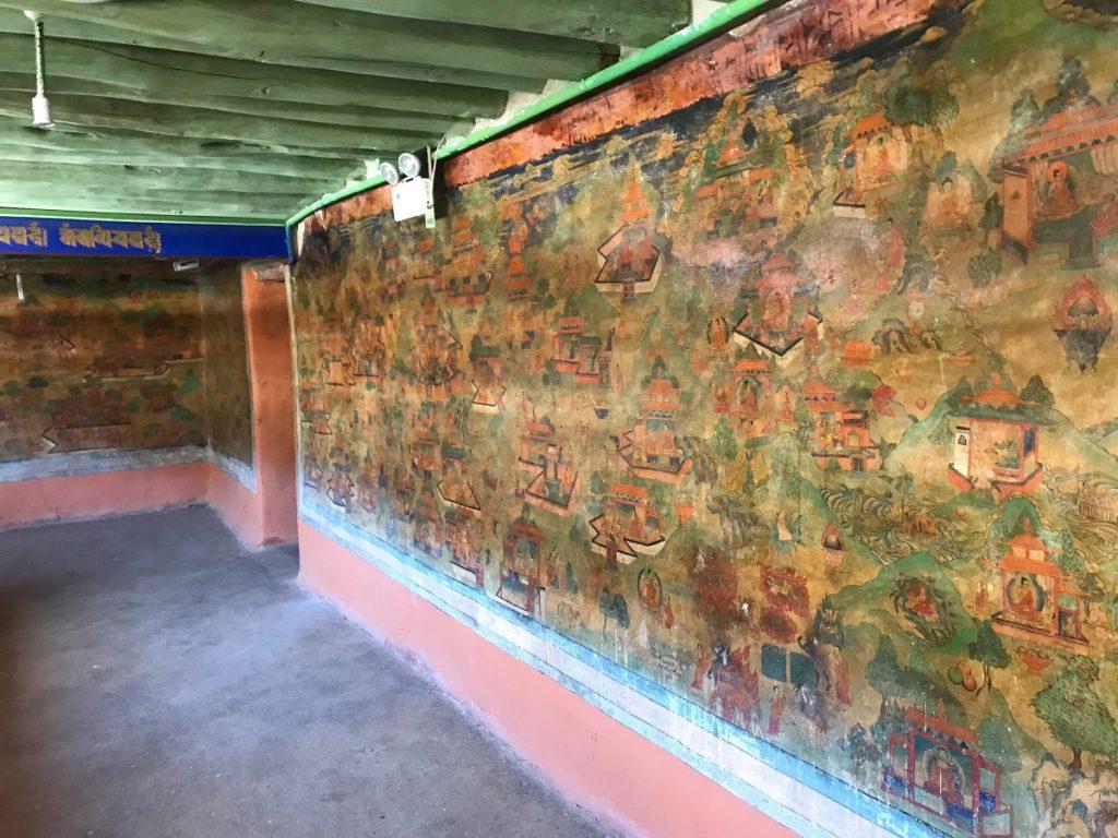 Murals depicting Buddha Life stories, Phuntsok Ling monastery, Tibet