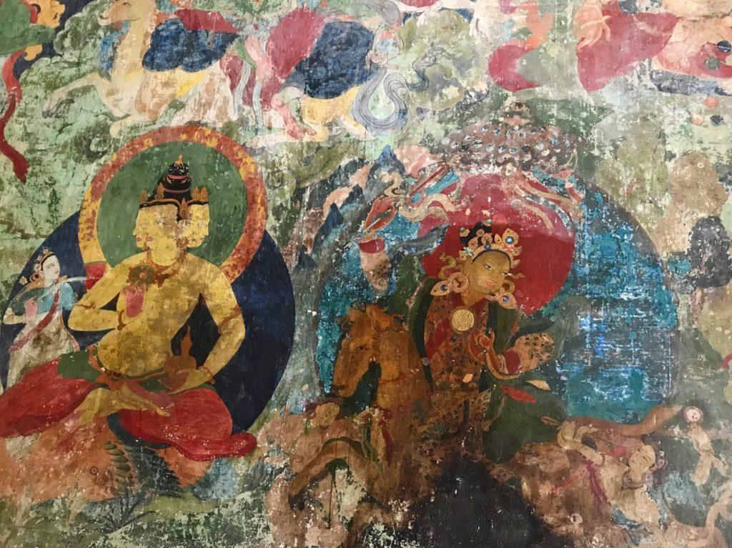 Murals in Phuntsok Ling Monastery, Tibet