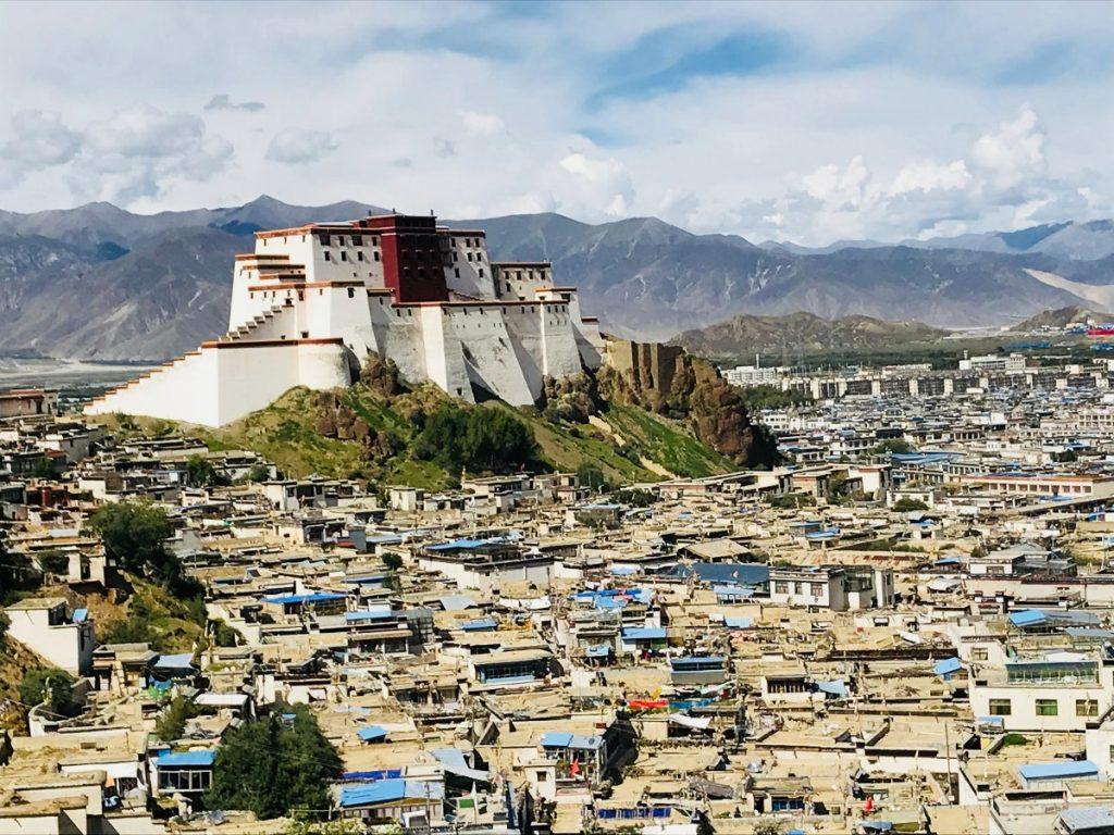 Shigatse fort overlooking the old city, Tibet