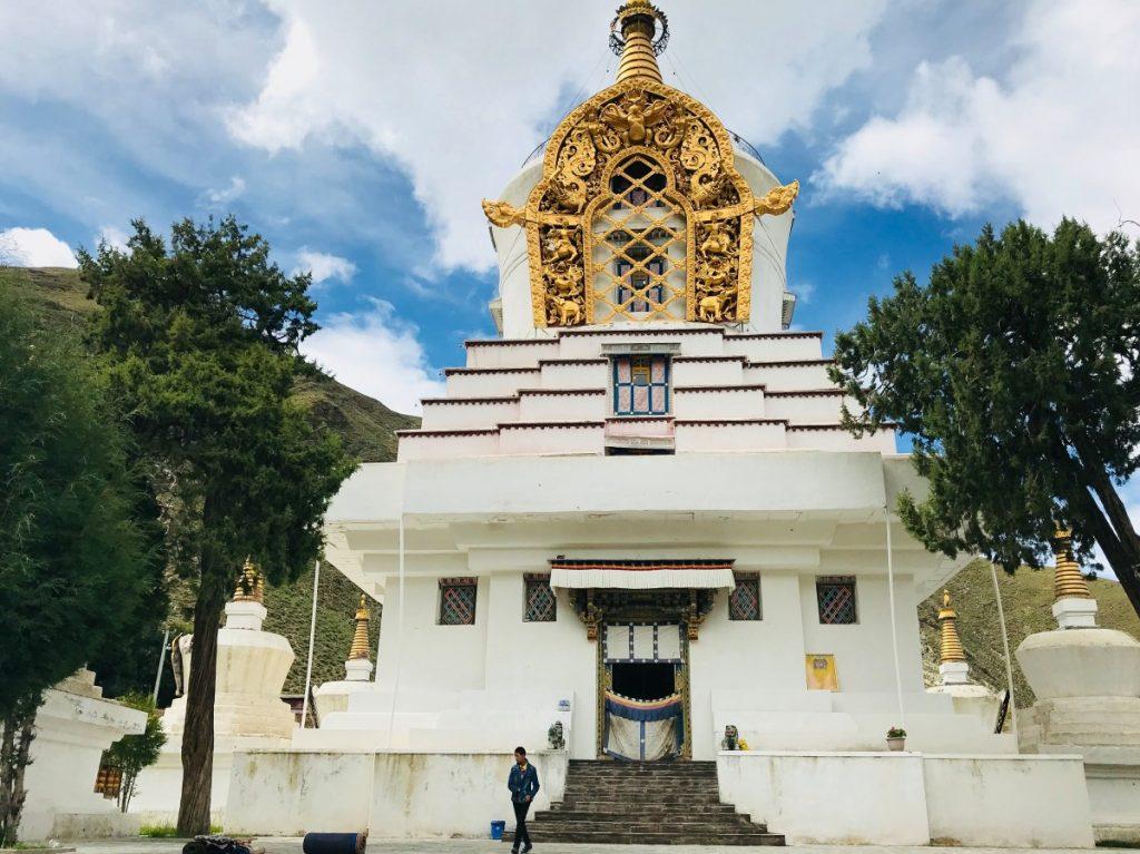 Stupa in Mindrolling Monastery, Tibet