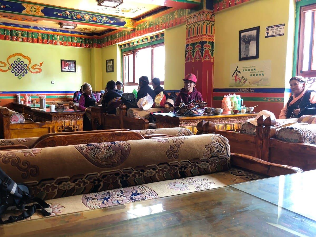 Tea house on Barkhor street, Lhasa