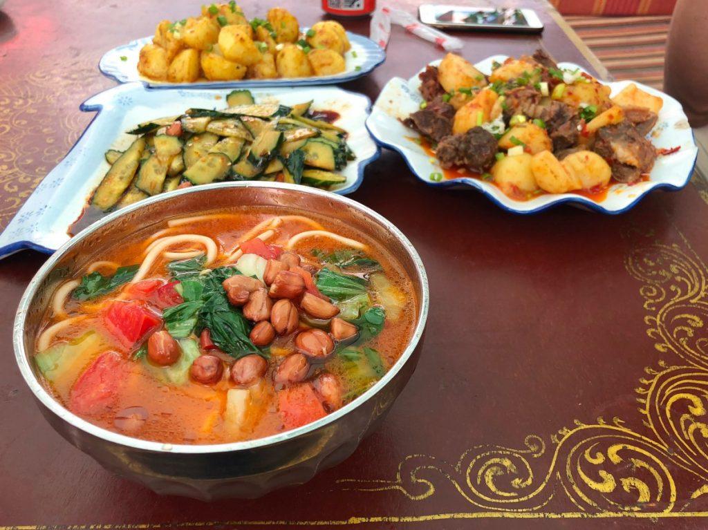 Tibetan lunch