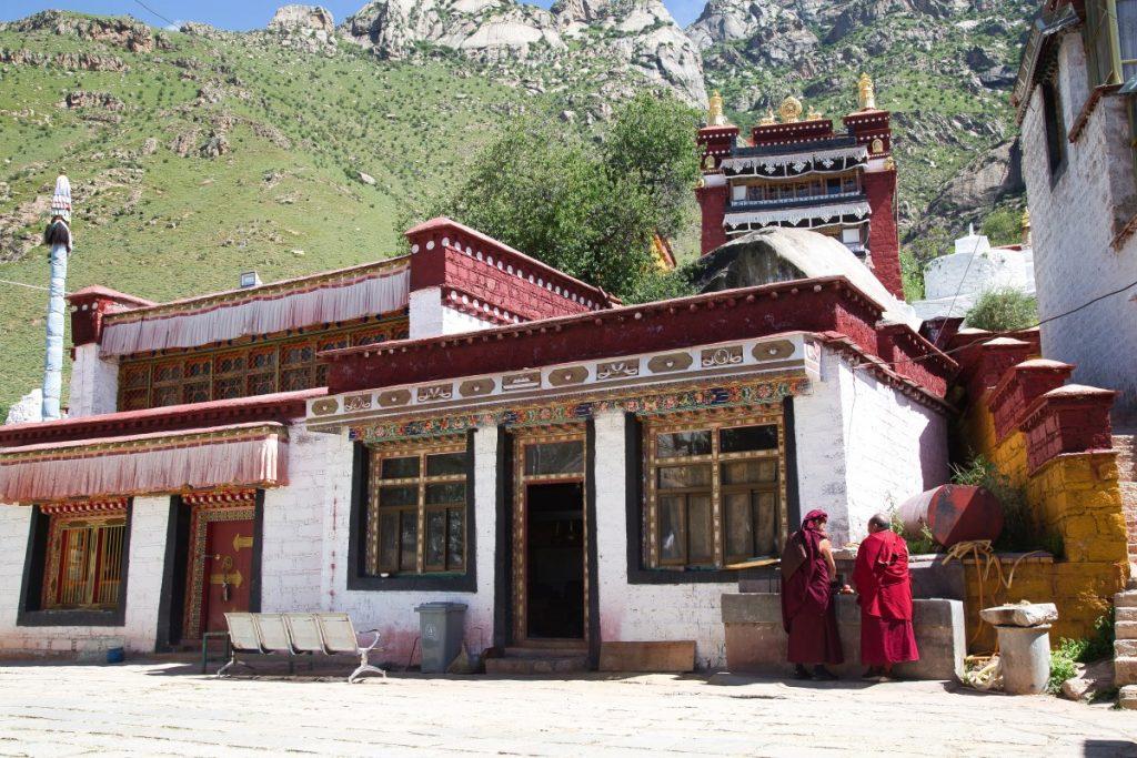 Monks in Pabongka, Lhasa