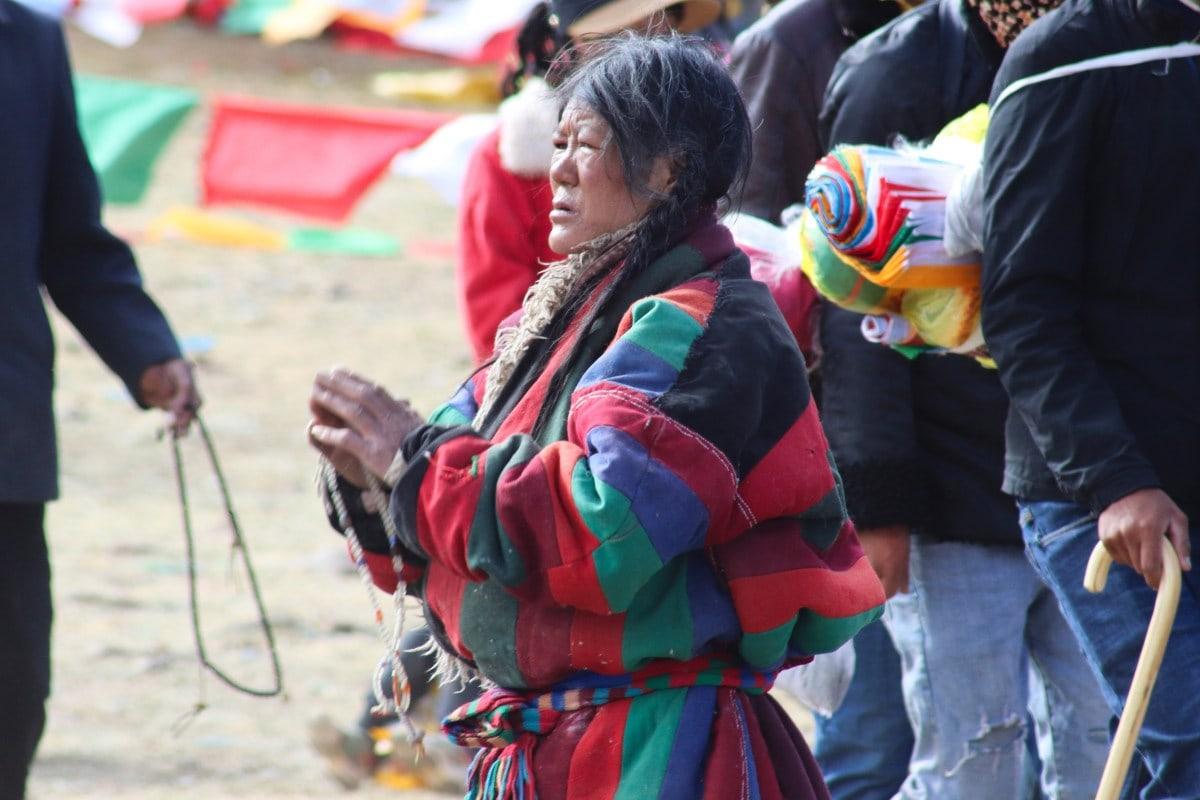 Tibetan woman at Saga Dawa festival in Kailash