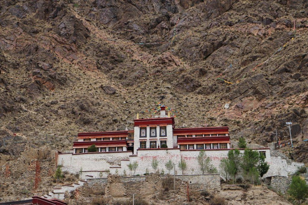 Dorje Drak monastery on the mountain, Tibet