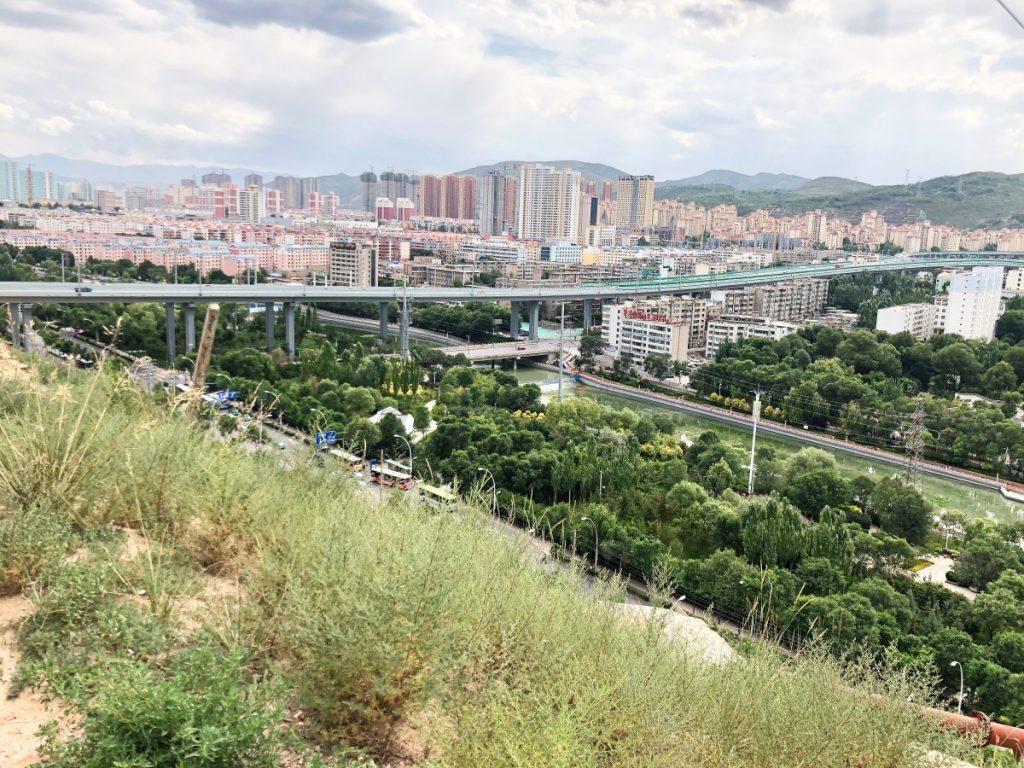 View on Xining city, Qinghai