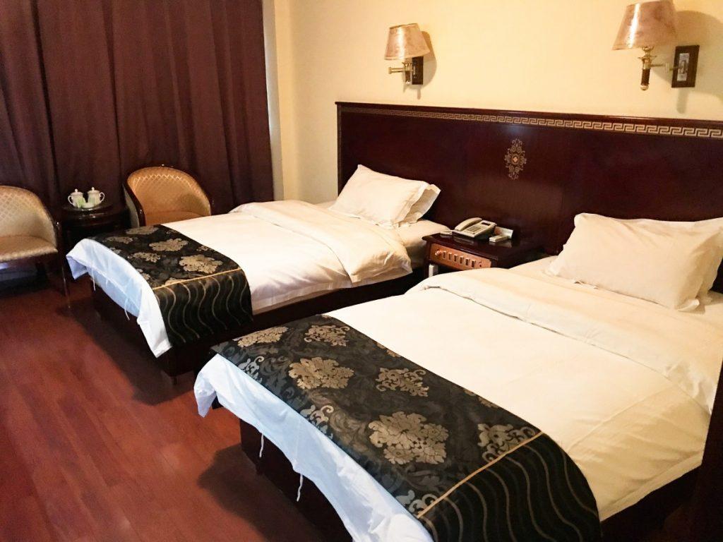 Bedroom in Gyantse Yeti hotel, Tibet