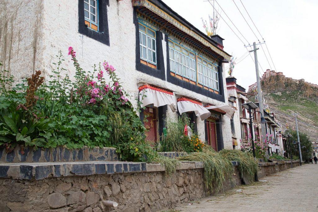 Street in Gyantse Old Town, Tibet